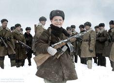 Vova Egorov, 15 Year Old Scout for the Red Army. April 1942 Вова Егоров , пятнадцатилетний разведчик . 1942 г. Colorized by planetzero