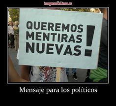 imagen de Mensaje para los políticos