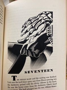 Vintage Book Art, His Hands, Horns, Horn, Antlers