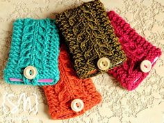 Stricken Gift Card-igans pattern by Julie Tarsha, Free Knitting, Knitting Patterns, Crochet Patterns, Knit Or Crochet, Crochet Gifts, Crochet Shawl, Simple Crochet, Crochet Bags, Knitting Projects