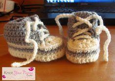 other crochet converse newborn booties by Knot your nana's crochet