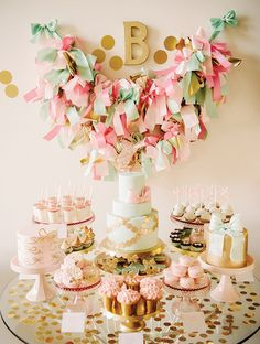 The cutest dessert table ever!