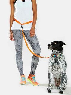 Hands-free dog leash from Stunt Puppy, made especially for runners. Stretchy and soft with flexible connector that attaches to an adjustable… Pet Dogs, Dogs And Puppies, Pet Life, Dog Leash, Dog Harness, Dog Supplies, Party Supplies, Dog Accessories, Dog Care