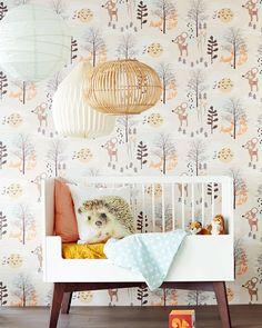 Fim do tédio para o quarto do bebê: Papel de parede dos anos 70 - Mão na Casa