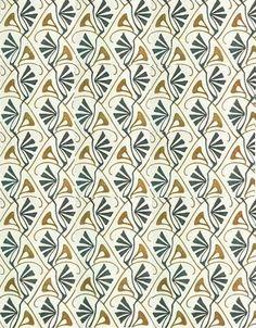 Textile Design by Bernhard Wenig, ca. 1901