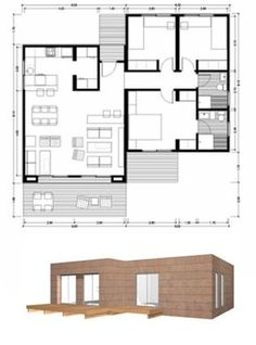 Un fin de semana en la montaña no puede no ser en esta casa de madera la cual esta equipada para satisfacer todas las necesidades de sus o... Narrow Lot House Plans, Dream House Plans, Modern House Plans, House Floor Plans, Casas Containers, Compact House, Long House, Small Modern Home, Architect House