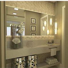 Construindo Minha Casa Clean — Lavabo sofisticado! @construindominhacasaclean...