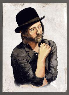 Thom Yorke, ilustrado por Ezequiel Calvo. #Illustration #Argentina