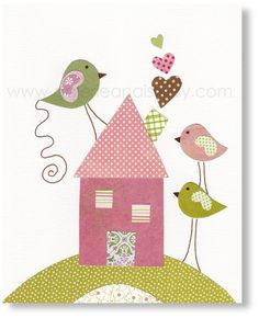 Hey, I found this really awesome Etsy listing at https://www.etsy.com/listing/187410460/girl-nursery-decor-kids-decor-bird
