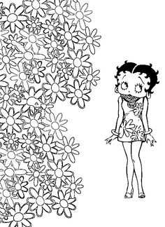 betty boop coloring pages coloring page betty boop