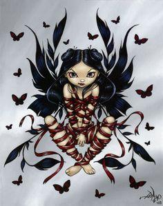 Dark Ribbon Fairy - Jasmine Becket-Griffith