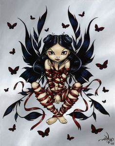 Dark Ribbon Fairy - Jasmine Becket-Griffith