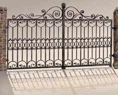 last we create install custom ornamental iron designs in estate gates Metal Gates, Wrought Iron Gates, Gate For Home, Modern Window Grill, Buddha Home Decor, Gates And Railings, Iron Gate Design, Custom Gates, Iron Work
