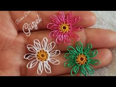 Needle lace is easy to make chamomile - Дизайн дома Needle Lace, Yarn Needle, Diy Flowers, Crochet Flowers, Baby Knitting Patterns, Crochet Patterns, Crochet Unique, Tatting Tutorial, Wire Crochet