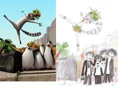 TPoM and King Julien by GreenSpoi on DeviantArt Disney Anime Style, Disney Fan Art, Anime Vs Cartoon, Cartoon Art, Disney Memes, Disney Cartoons, Cartoon Characters As Humans, Anime Version, Otaku Anime