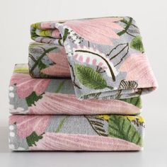 One of my favorite discoveries at WorldMarket.com: Gigi Floral Printed Towel Collection