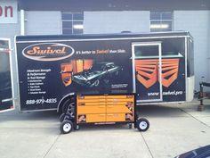 Toolbox on wheels Workbench For Sale, Steel Workbench, Truck Tools, Truck Tool Box, Tool Storage, Storage Ideas, Cool Vans, Buy Tools, Toolbox