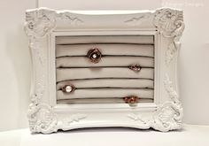 The Crafty Housewife: DIY Frame Ring Display Holder - I have everything I need to make this!