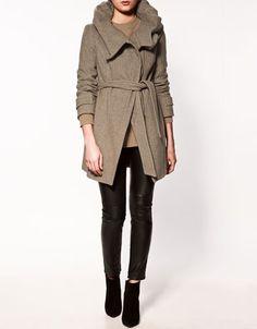zara coat with hood. id wear it in a heartbeat