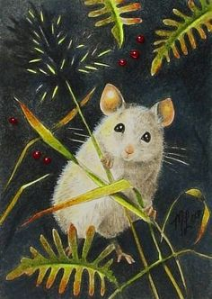 Charming  Mouse Art  Melody Lea Lamb ACEO Print by MelodyLeaLamb, $5.99
