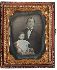 [heart wrenching post mortem daguerreotype portrait of a father cradling his deceased daughter, dressed in white and posed with a small bouquet of flowers in her hands] via Cowan's Auctions Victorian Photos, Antique Photos, Vintage Photos, Historical Women, Historical Photos, Cairo Time, Small Flower Bouquet, Flowers, Post Mortem Pictures