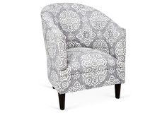 Ashlee Tub Chair, Medallions on OneKingsLane.com