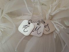 Sterling Silver Personalized Hand Stamped Rounded by 3littlegems, $37.00