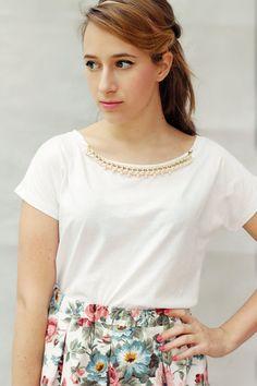 T-shirt con catena, t-shirt con collana