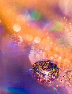 Magische Bokeh Glitter Fotografie Print | Bunte Zen Wassertropfen | Innenministerium Schlafzimmer Badezimmer Dekor