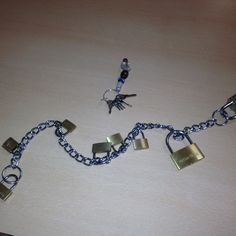 Chain padlocks and keys, good for aged residents and dementia residents to keep active.