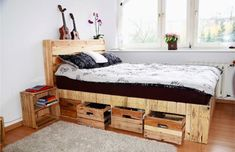 25 BEST U2013 DIY Pallet Bed Ideas | Bedroom Concept! Diy Pallet Bed, Pallet
