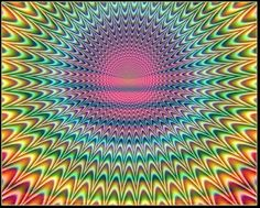 ♡♥Psychedelic colors in a moving optical Illusion - click on pic to see a full screen pic in a better looking black background♥♡