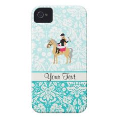 You will love this cute teal damask pattern equestrian horse riding horses  design.  Great for gifts!  Available on tee shirts, smart phone cases, mousepads, keychains, posters, cards, electronic covers, computer laptop / notebook sleeves, caps, mugs, and more!  Visit our site for a custom gift case for Samsung Galaxy S3, iphone 5, HTC vivid / Raider 4 G, Kindle Fire, Droid RAZR, or iPad!  Also personalized invitaions, greeting & business cards, t shirts etc.