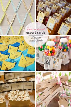 fun escort cards | Best Day Ever  Pöytäkortit