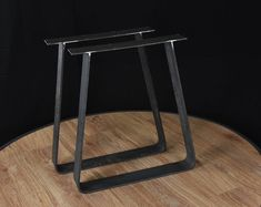 2 x Trapezoid Table Legs - Dining Pedestals in Industrial Steel, Wide Flat Steel Table Legs SET of 2 Steel Table Legs, Steel Coffee Table, Coffee Table Legs, Kitchen Table Legs, Dining Table Legs, Table Bench, Bench Legs, Desk Legs, Industrial Table Legs