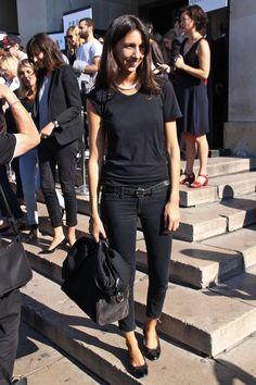 black skinny jeans and flats - geraldine saglio style