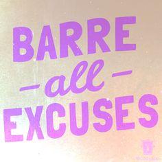 Barre inspiration!