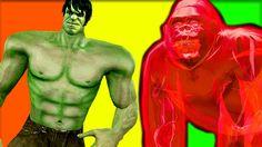 Ultimate Hulk Vs Black Gorilla Epic Battles   Animal Fighting Videos for...