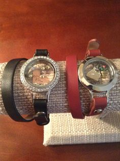 The new Origami Owl leather wraps.  So fun and stylish!  www.yourlockets.origamiowl.com