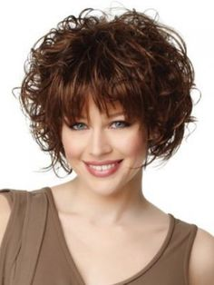 Brown Curly Bob Hairstyles
