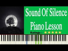 Learn Sound Of Silence On Piano - Easy Sound Of Silence Piano Tutorial Easy Piano Songs, Free Piano, Piano Tutorial, Piano Lessons, Learning, Music, Books, Piano Classes, Musica