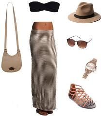 Maxi skirt and black bandeau