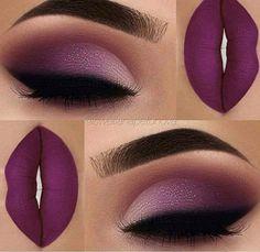 Make-up violet