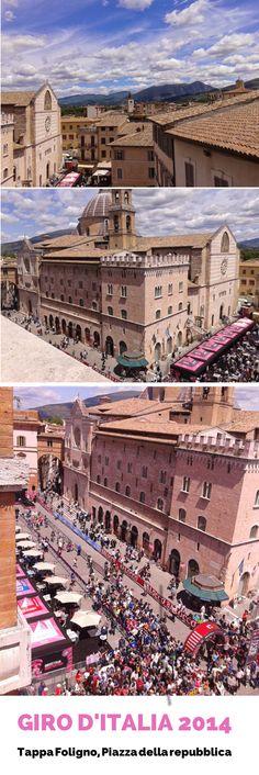 Nel 2014 Foligno è stata l'unica tappa del #giro d'Italia in cui i ciclisti sono arrivati e partiti il giorno seguente. Per la città è stato un grande evento e io ho avuto la possibilità di osservare Piazza della Repubblica da un altro punto di vista, che considero unico.