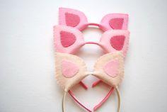 DIY Pig Ears for a Peppa Pig Birthday Party-- make ears more rounded to look like Peppa's ears (like half Twinkie shape)