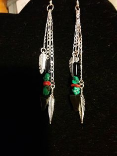 Unique Native American style extra long Earrings