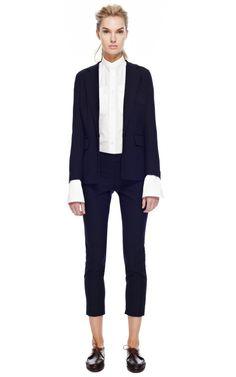 Boyish charm = sexy blazer  Pretty much my go-to outfit