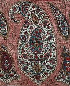 Antique Persian Isfahan Qalamkar Blocked Print (detail). Qajar Dynasty 1795 -1925 A.D. Circa 1850.