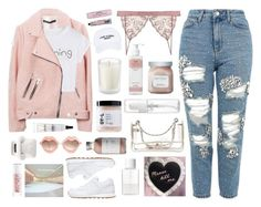 """""""Untitled #2902"""" by tacoxcat ❤ liked on Polyvore featuring Topshop, WithChic, NYX, Laura Mercier, Nasaseasons, Tocca, French Girl, Chanel, Soap & Paper Factory and SUQQU"""