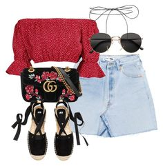 """""""Untitled #3999"""" by theeuropeancloset on Polyvore featuring Boohoo, Gucci, H&M and Lilou"""
